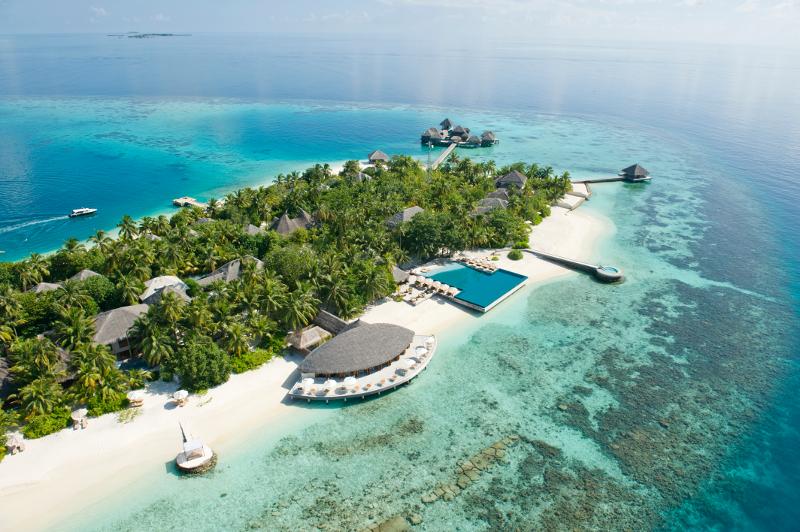 Hotel Huvafen Fushi auf den Malediven.