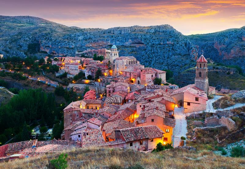 Die spanische Stadt Albarracín