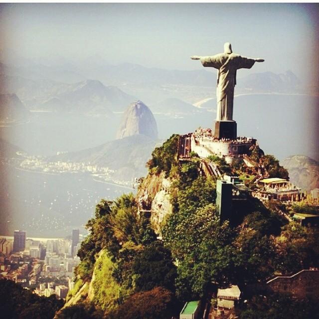 Die Christus Statue in Rio de Janeiro.