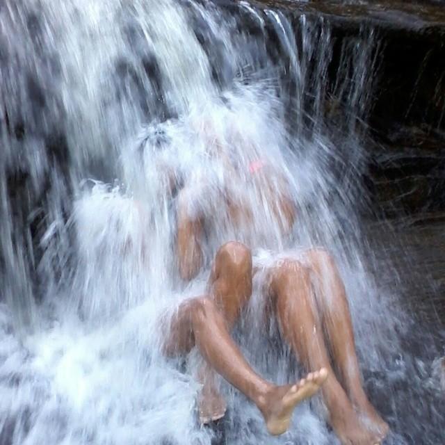 Wasserfall in Brasilien.