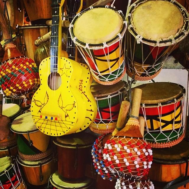 Trommeln in Brasilien.