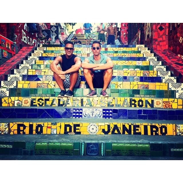 Zwei Touristen in Rio de Janeiro in Brasilien.