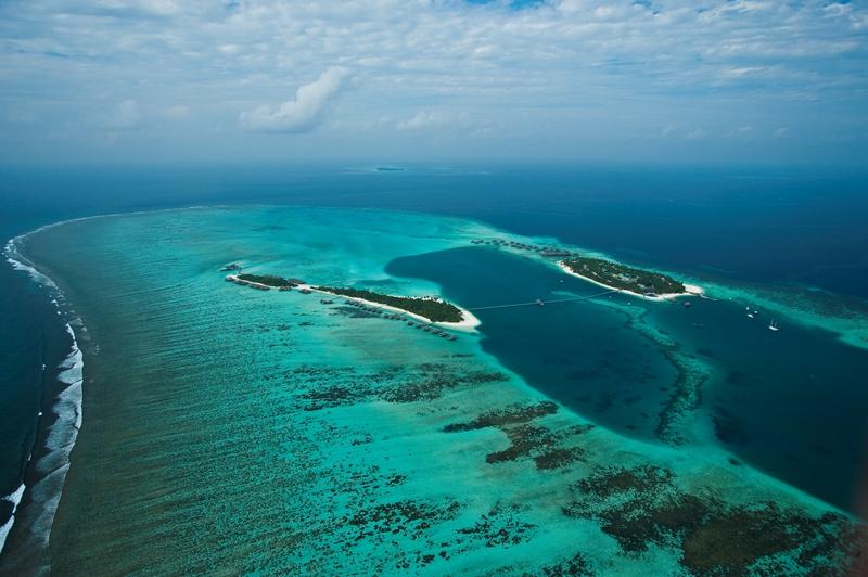 Malediven Korallen Atolle Insel