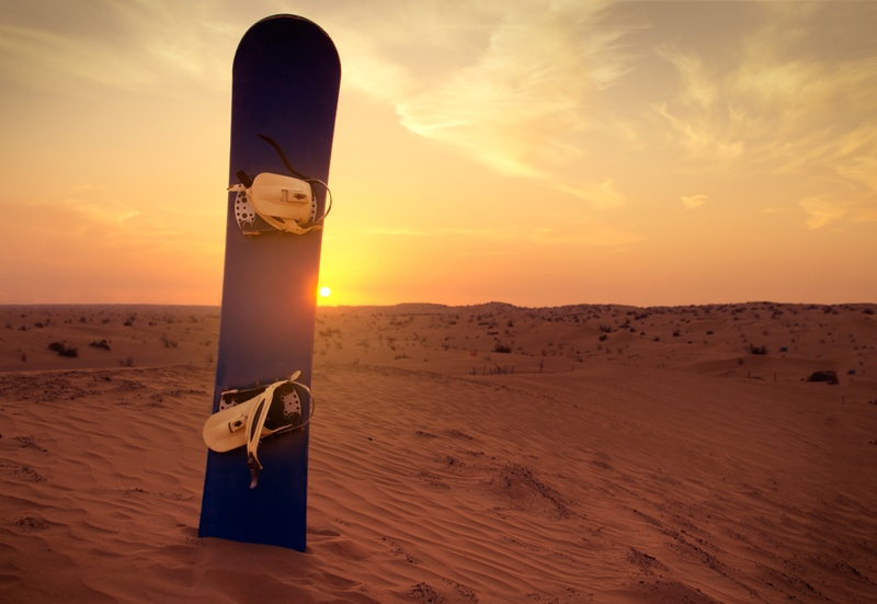 Sandboarding im Tal des Todes
