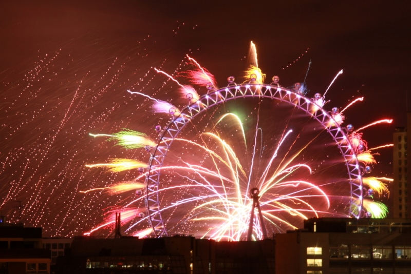 Silvester in London London Eye