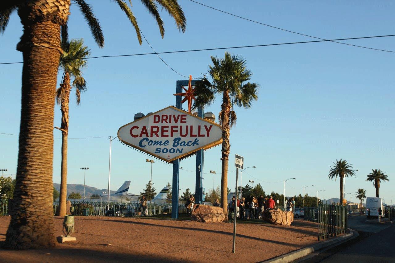 Las Vegas Ortsausgangsschild