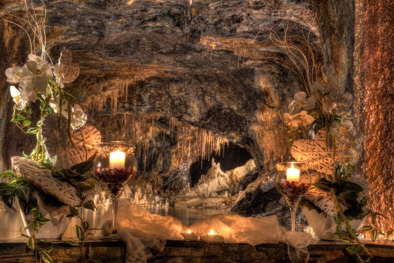 Saalfelder Feengrotte tropfsteinhöhle Heiratsantrag
