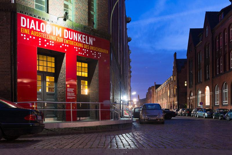 Dauerausstellung Dialog im Dunkeln in der Hamburger Speicherstadt