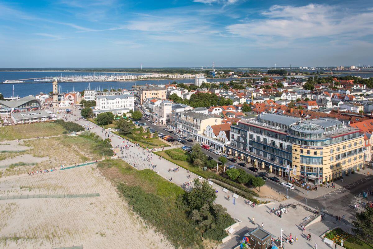 Außenansicht Hübner Strandhotel Rostock Ostsee