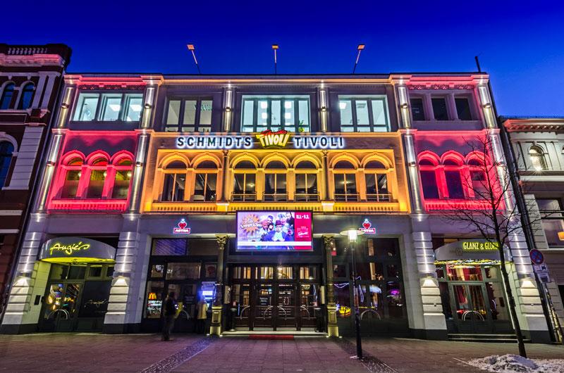 Blick auf das Schmidt Theater und Schmidts Tivoli