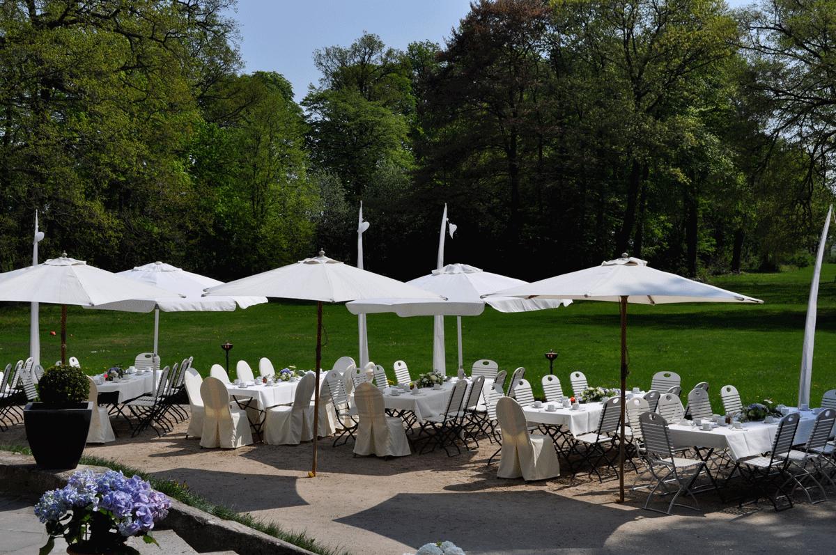 Gartenansicht Schloss Kartzow