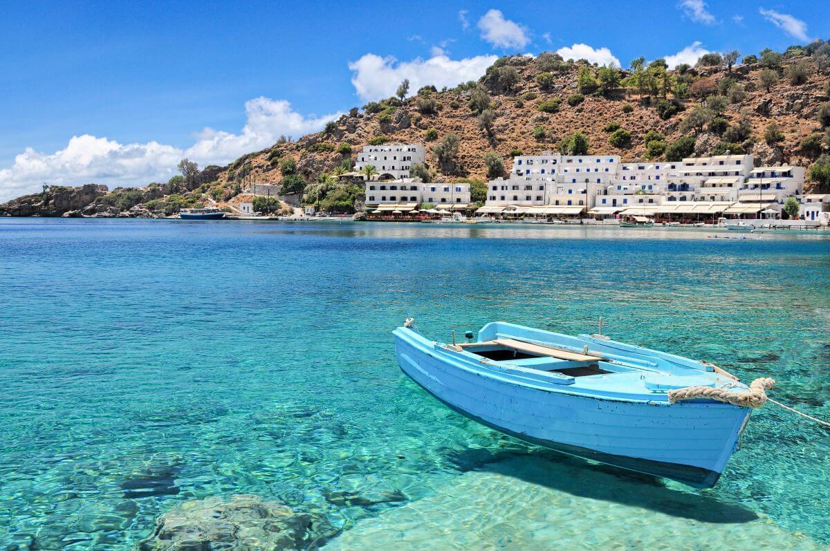 Lagune Loutro Kreta Griechenland