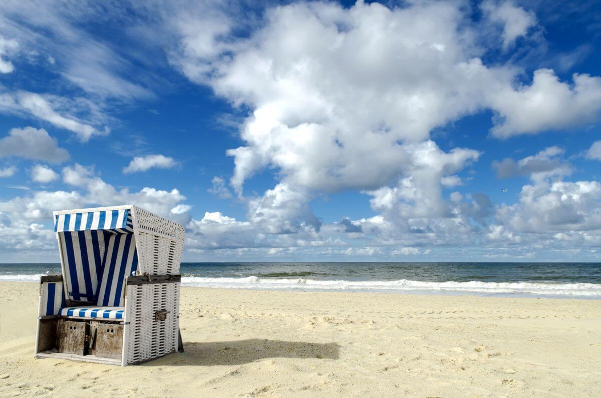 Strandkorb Nordseeküste Westerland, Sylt