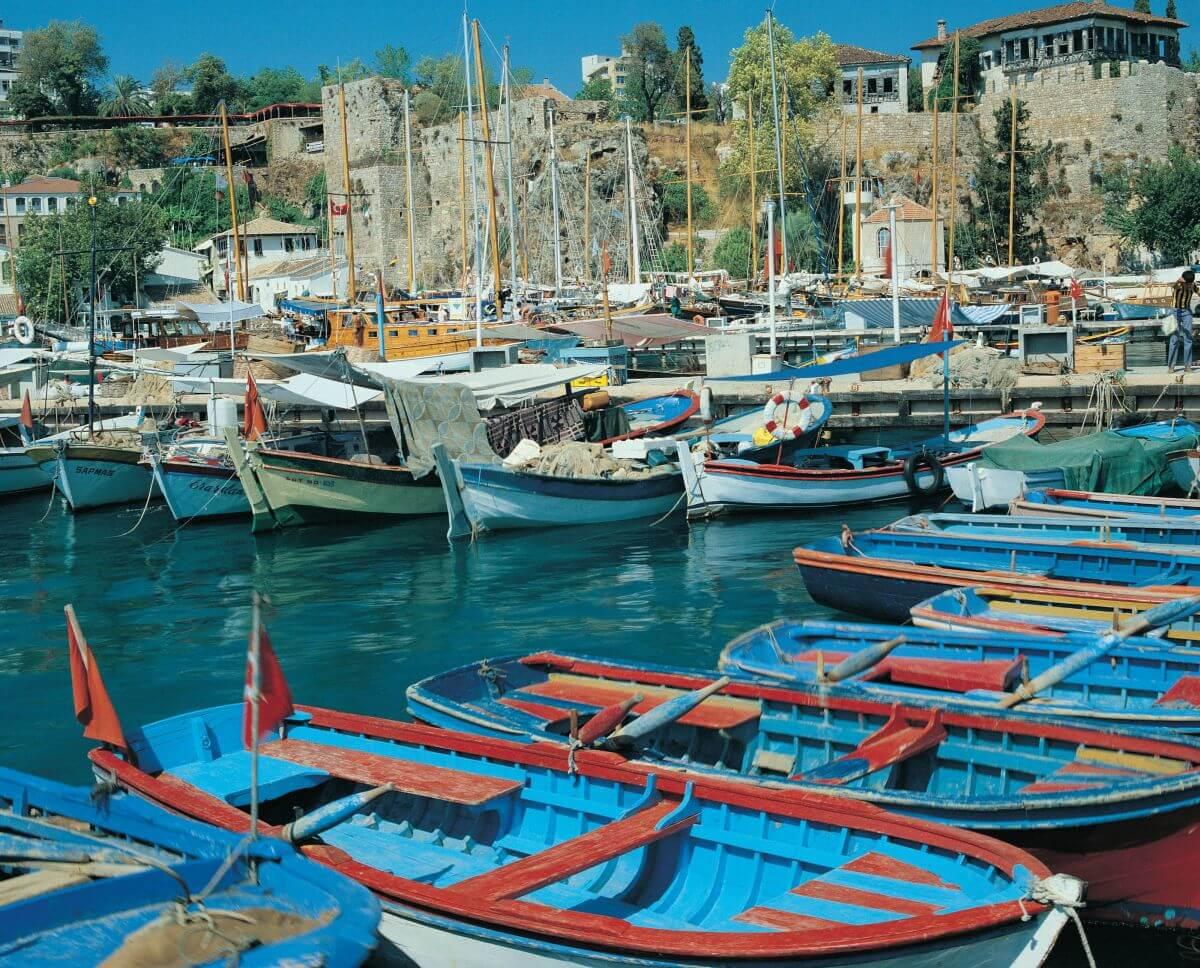 Boote im Hafen von Antalya
