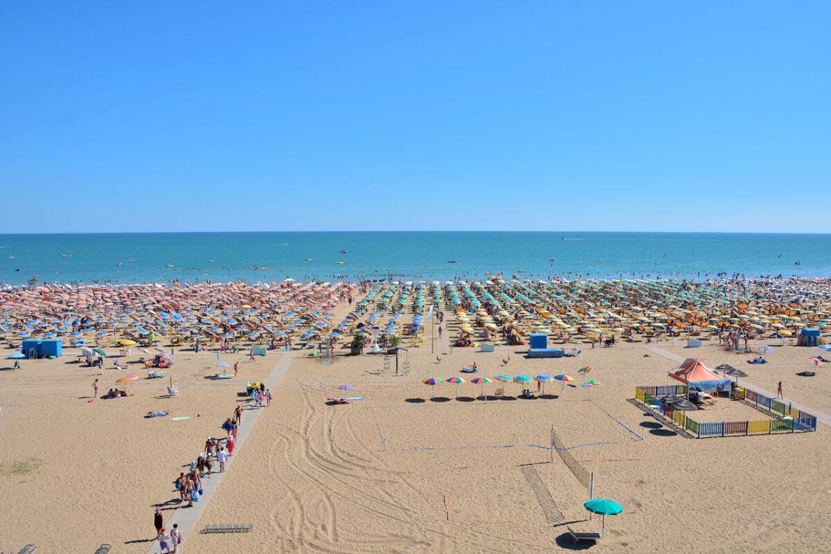 Strand von Bibione Italien