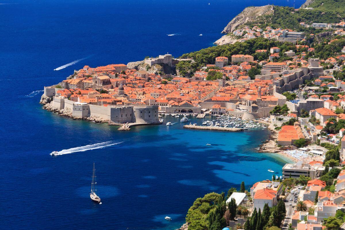 Dubrovnik von oben Kroatien