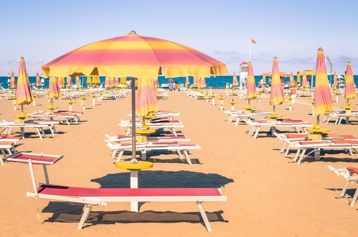 Strand von Rimini Italien