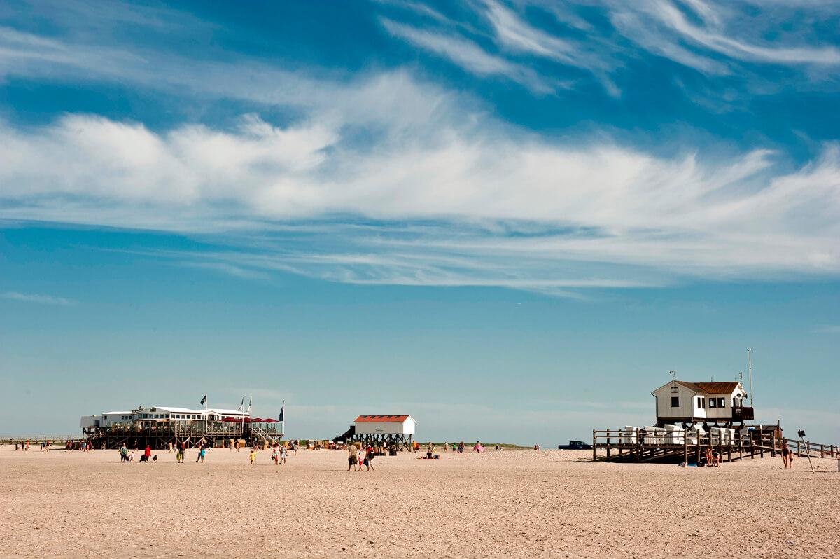 Badestrelle am Strand Sankt Peter-Ording Nordsee