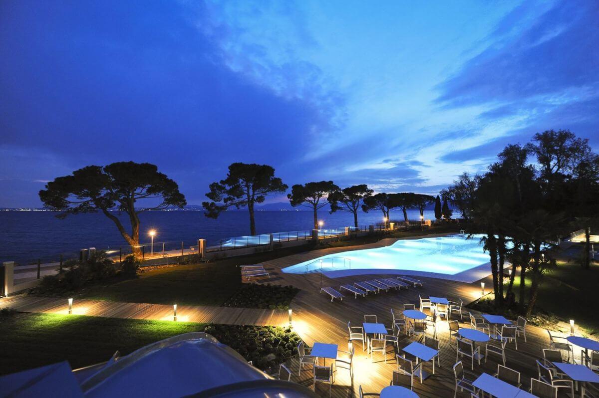 Swimmingpool Gourmethotel Corte Valier am Gardasee