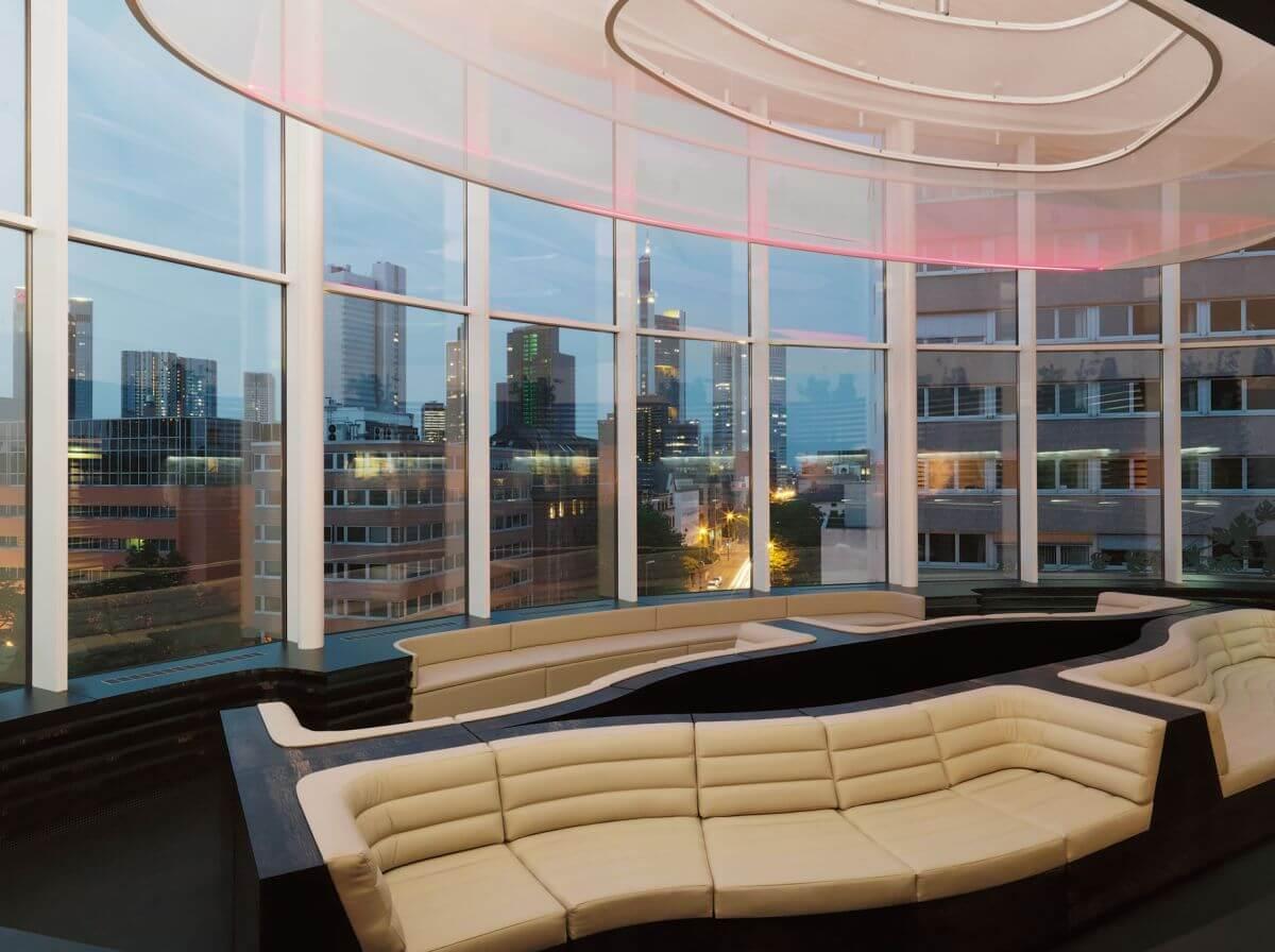 Kostenloses WLAN im Hotel Roomers Frankfurt Skyline Lobby