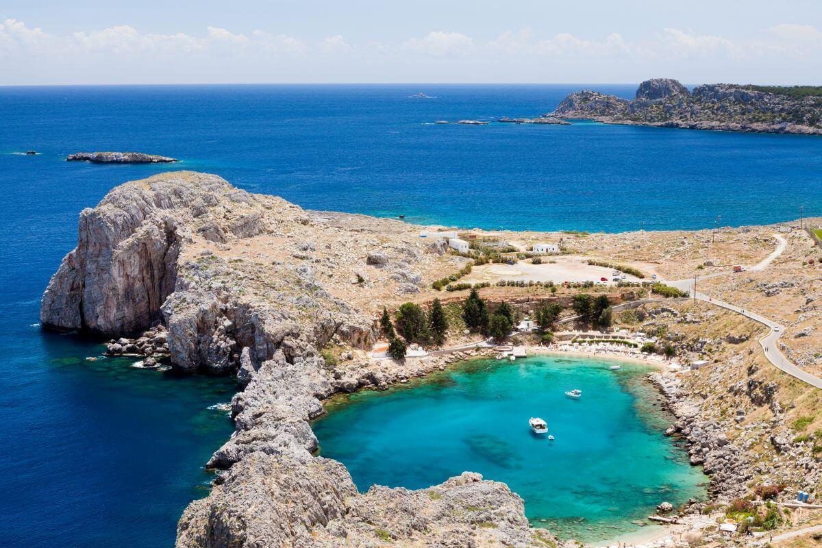 St Pauls Bucht Lindos Rhodos Griechenland