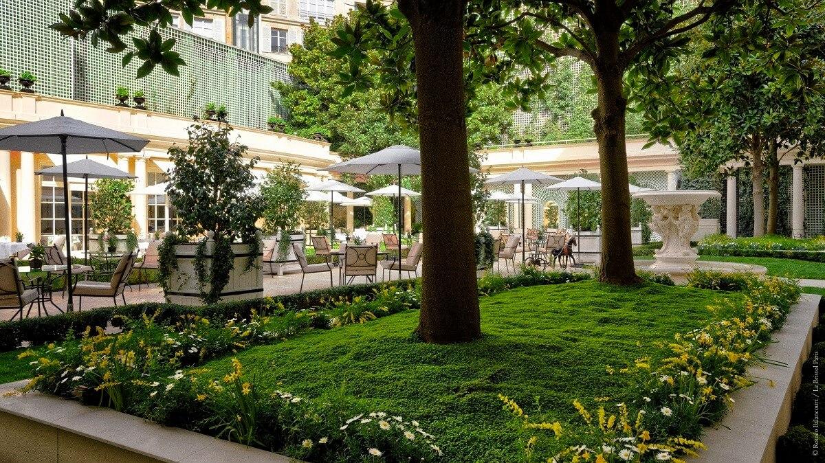 Französische Gärten im Le Bristol