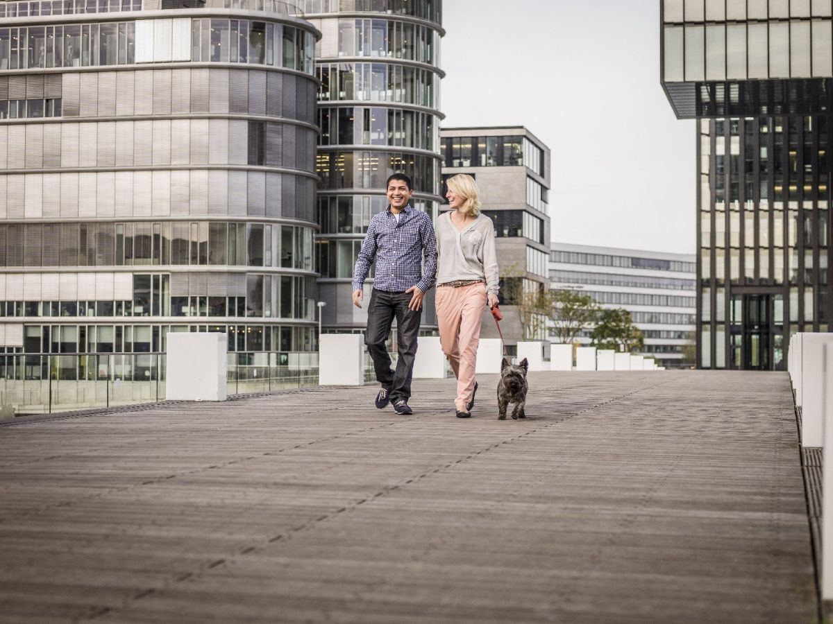 Hyatt Regency Düsseldorf Spaziergang mit Hund