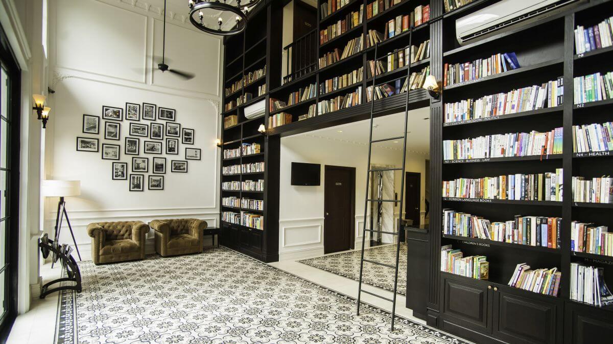 Hotel mit Bibliothek in Ho Chi Minh-Stadt