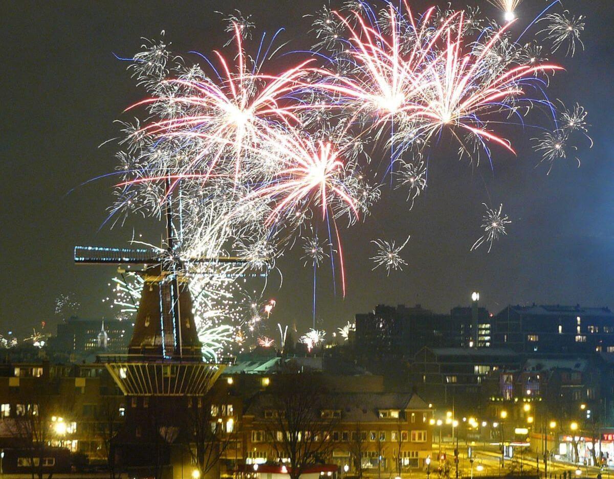 Feuerwerk in Amsterdam