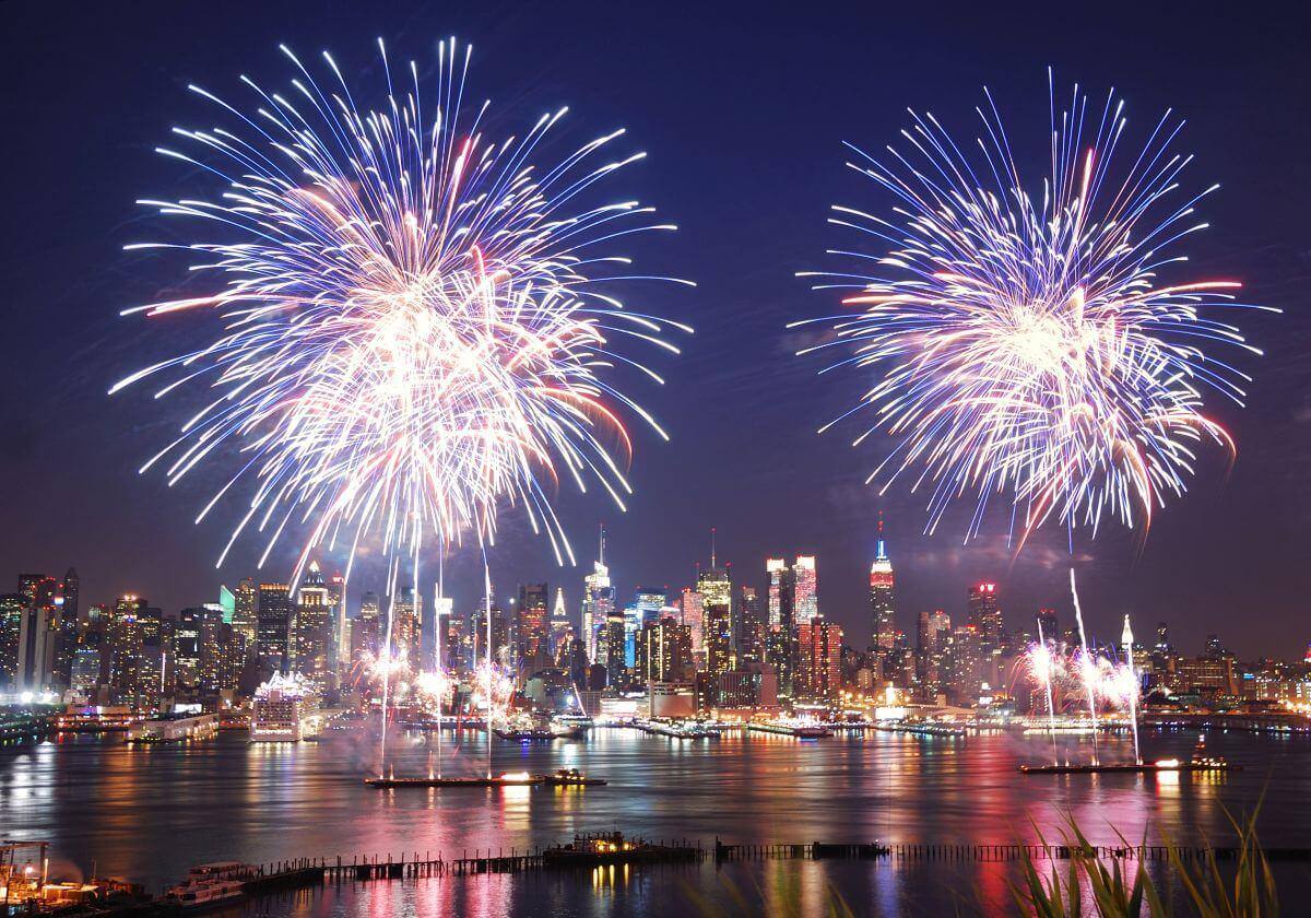 Feuerwerk über New York