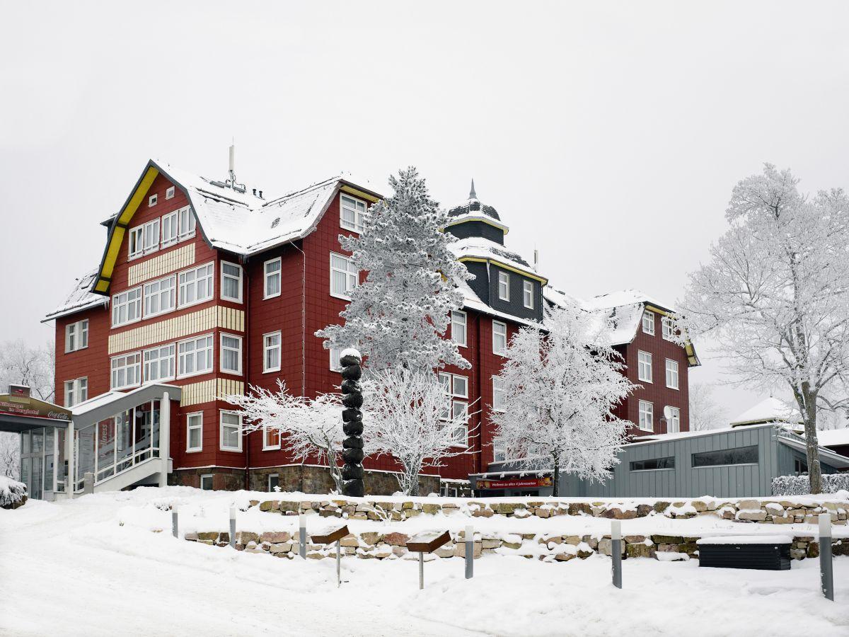 Winterlandschaft beim Berghotel Oberhof